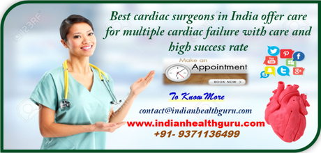 Best cardiac surgeons in India offer care for multiple cardiac failures with care and high success rate
