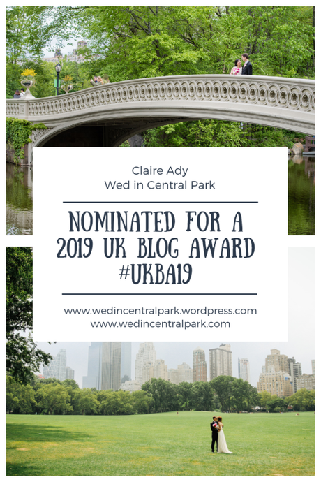I have been nominated for a 2019 UK Blog Award