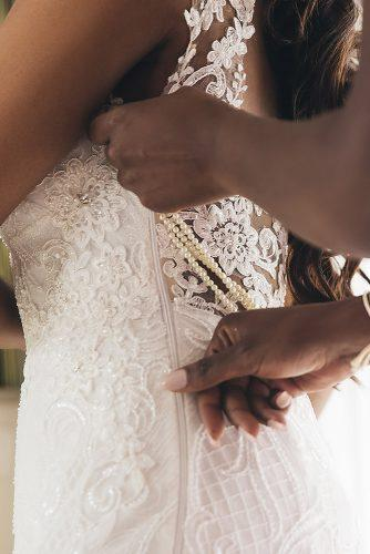 real wedding cindy glen preparation photography with lace and pearls dress stanlo photography