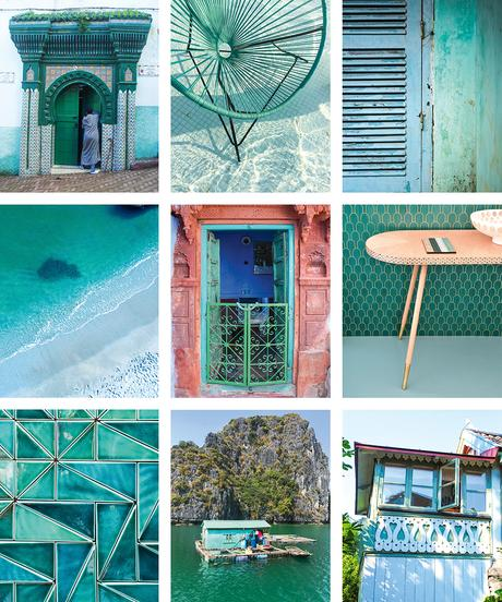 Stunning aqua and turquoise color inspiration