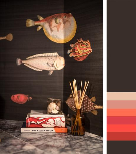 Brown, red and orange interior inspiration - an unusual, but fabulous color combination