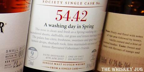 SMWS 54-42 A washing day in Spring Label
