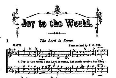 Christmas Music… Joy To the World