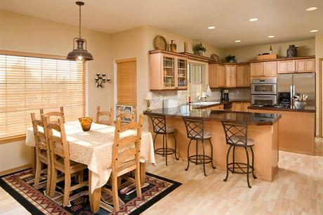 How to match dining tables with your kitchen cabinets