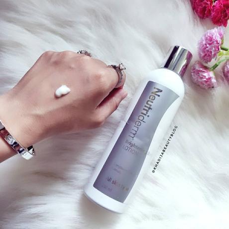 Neutriderm brightening body lotion