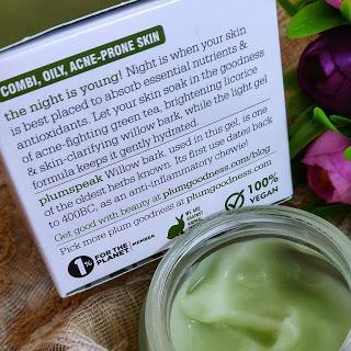 Plum Green Tea Clarity Renewed Night Gel  Review