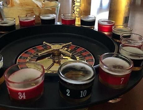 bachelor party games shot roulette