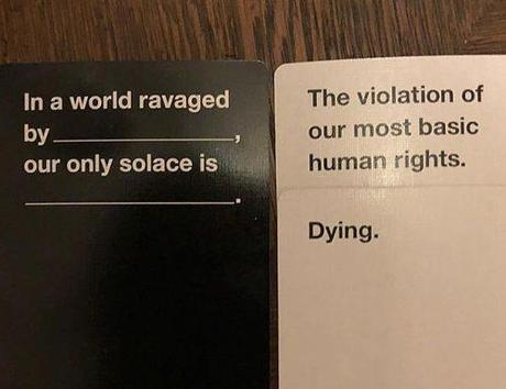 bachelor party games cards against humanity