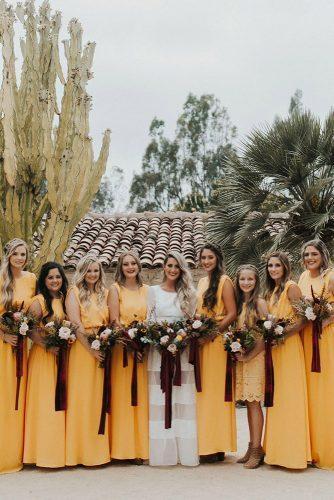 wedding colors 2019 mustard yellow dresse on bridesmaids jaicee morgan