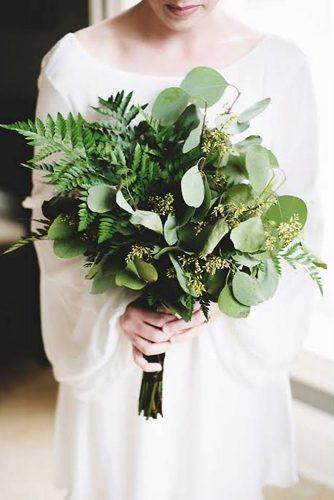 wedding colors 2019 olive green botanical bridal bouquet layers photo