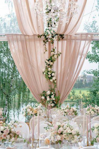 wedding colors 2019 outdoor reception under dusty pink tent decorated with roses and greenery roman_ivanov_weddings