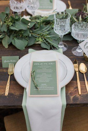 wedding colors 2019 olive green table decor and menu conforti photography