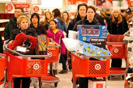 image of women holiday shopping