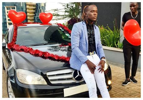 Willy Paul surprises his sweetheart with a new Mercedes Benz (Photos)