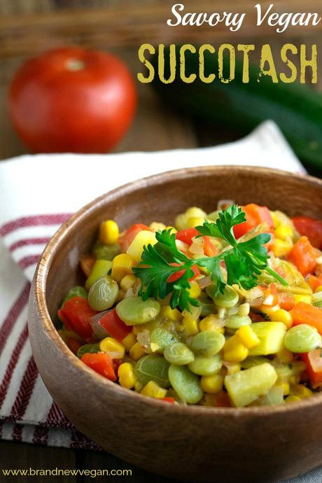 Sufferin' Vegan Succotash!  This recipe is AMAZING and will be the perfect side dish for that Holiday Dinner.
