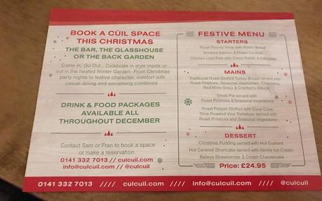Festive food at Cul Cuil
