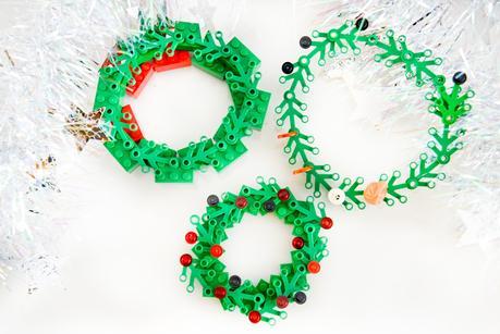 christmas lego, DIY christmas lego ornaments, DIY lego christmas decorations, Lego Christmas wreath