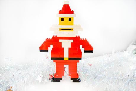 christmas lego, DIY christmas lego ornaments, DIY lego christmas decorations, Lego Christmas santa, lego father christmas
