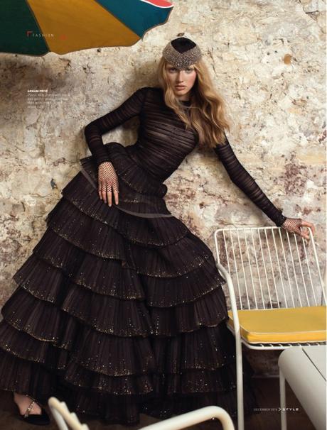Maryna Polkanova in Couture Detour for STYLE SCMP Magazine by Benjamin Kanarek