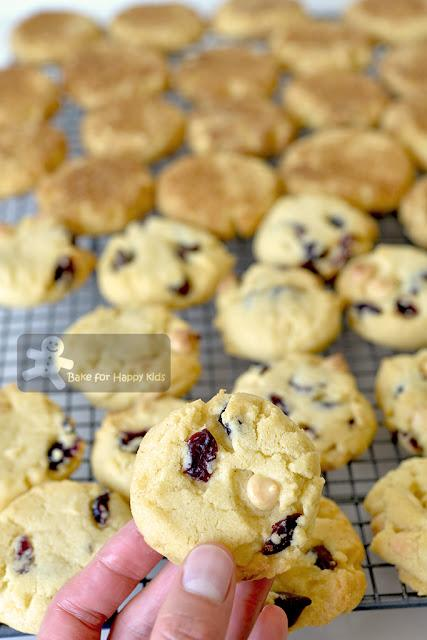 1-2-3 cookies chocolate chip cranberries