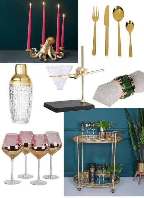From quirky kitchen and dining accessories to luxurious bar carts, you'll find the perfect gift for the hostess with the mostess.