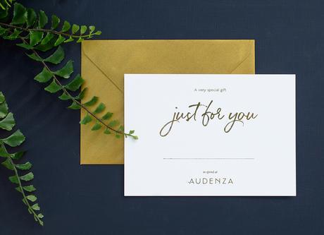 A beautiful Audenza gift voucher