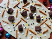 Melted Snowman Rudolf Chocolate Barks