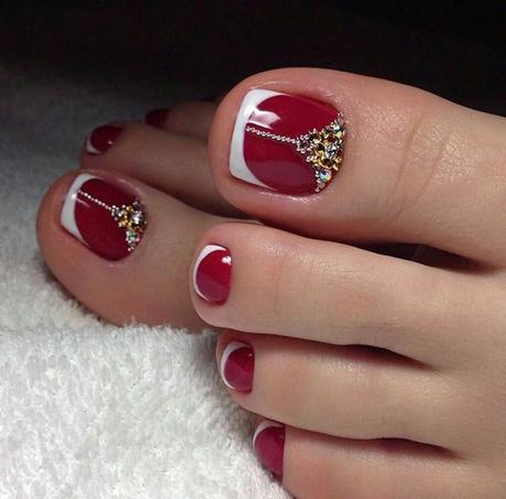 red toe nail designs