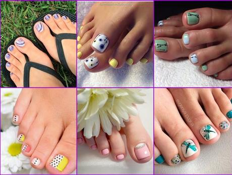 spring toe nail art