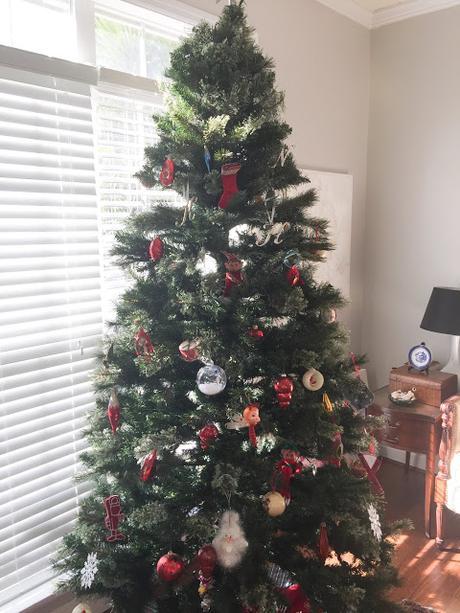 A vintage Christmas tree