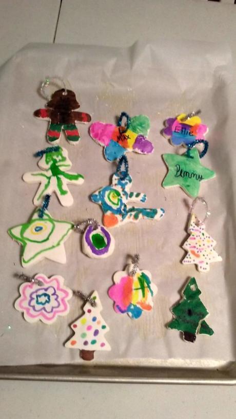 Cornstarch Christmas Ornaments