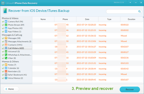 Recover your lost data with Gihosoft iPhone Data Recovery
