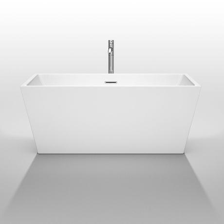 sara freestanding bathtub in white