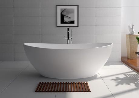 willowjay free standing bathtub in matte white