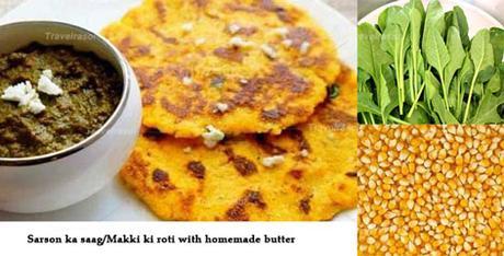 Sarson ka Saag and Makki ki Roti for winter food