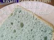 Blue Flower Chiffon Cake/ 兰花戚风