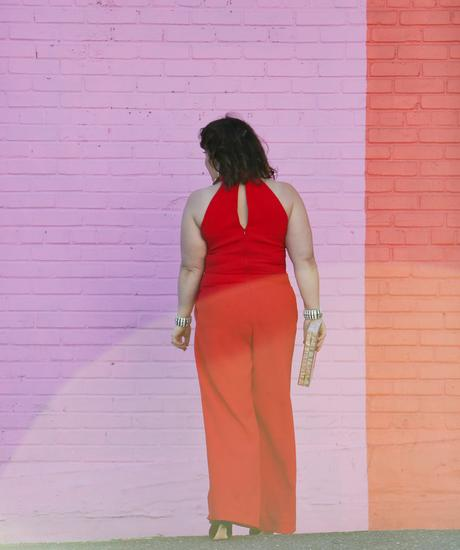 What I Wore: Red Cocktail Jumpsuit