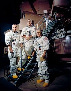 Apollo 8 crew-members: James Lovell Jr., William Anders, Frank Borman