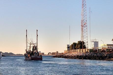 shrimp boat leaving puerto penasco