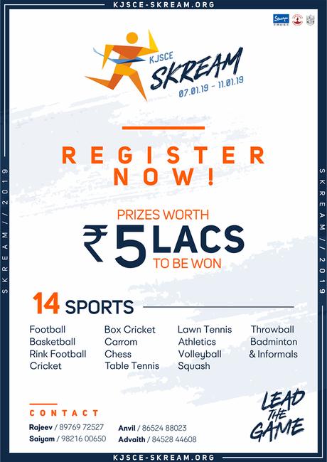 K.J. Somaiya College of Engineering – Sports Fest – Skream – 2018