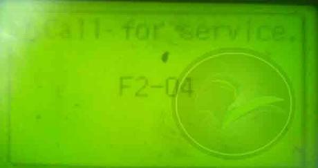 call for service f2-04 error