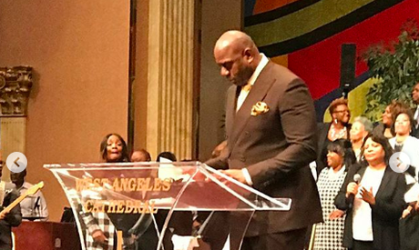 Magic Johnson Preached At West Angeles C.O.G.I.C