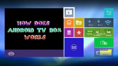 how does android tv box works