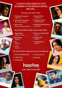 Hoichoi! Releases List Of Favourite Stars And Originals