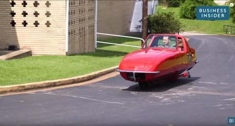 Watch: Weird Two-Wheeled Car Balances On Its Own