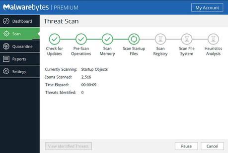 Malwarebytes threat scan software
