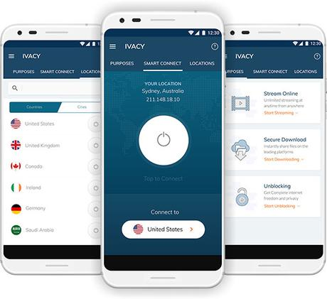 Ivacy VPN for Android devices