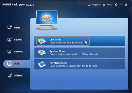 AOMEI Backupper clone hard drive