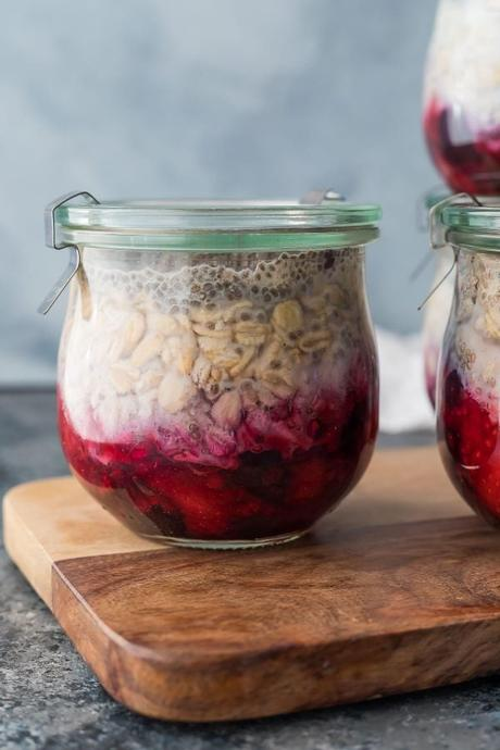 35+ meal prep tips from readers- overnight oatmeal in jar