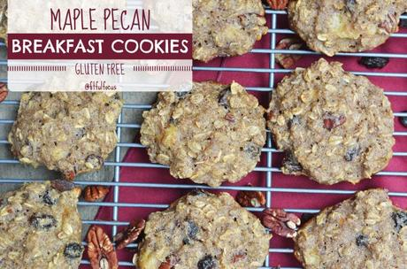 Maple Pecan Gluten Free Breakfast Cookies